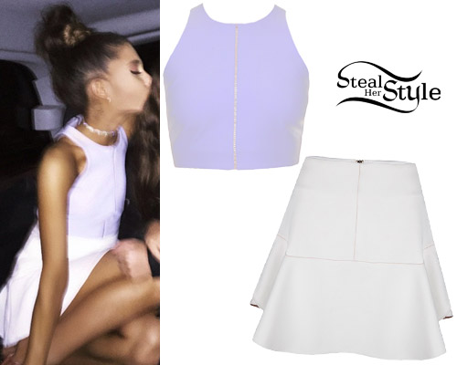 creative ariana grande crop top outfits 2017