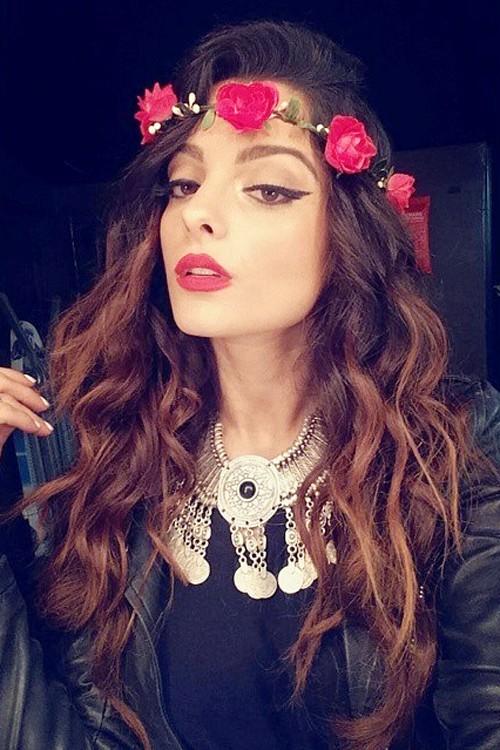 Estremamente Bebe Rexha Wavy Medium Brown Angled, Loose Waves Hairstyle | Steal  WV45