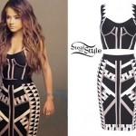 Becky G: Geo Print Top & Skirt