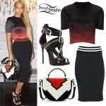 Beyoncé: Ombre Top, Colorblock Bag