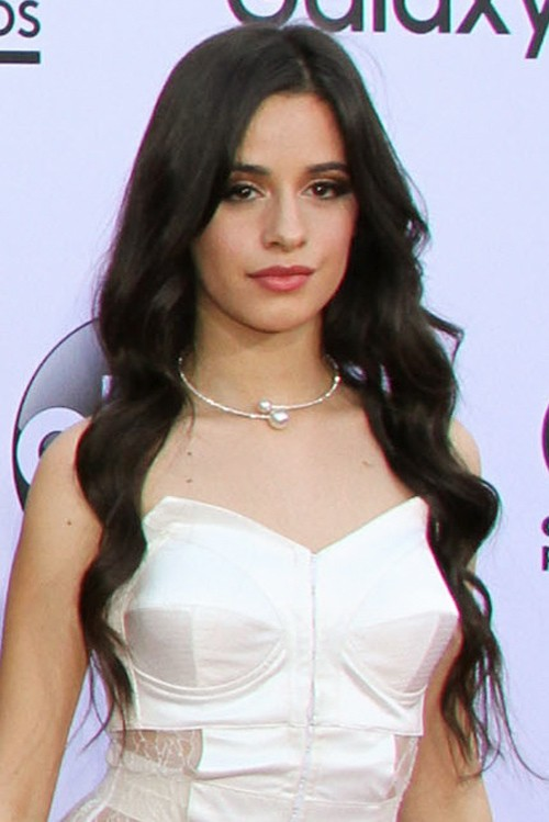 Camila Cabello Wavy Dark Brown Loose Waves Hairstyle | Steal Her Style