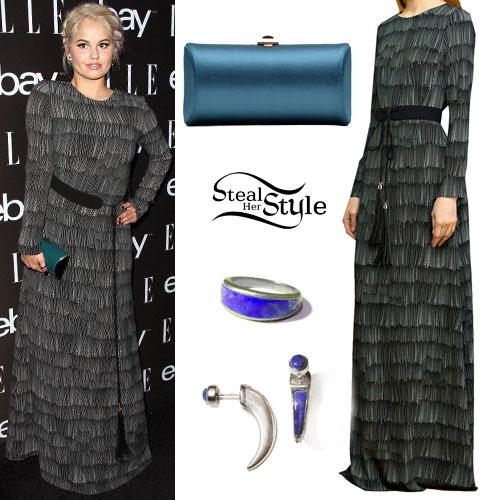 Debby Ryan: Fringe Maxi Dress
