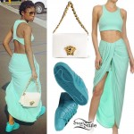 Def Loaf: Mint Green Top & Skirt