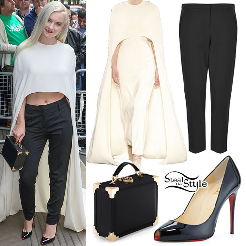 Grace Chatto: Cream Cape Outfit