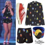 Hilary Duff: Mask Print Outfit