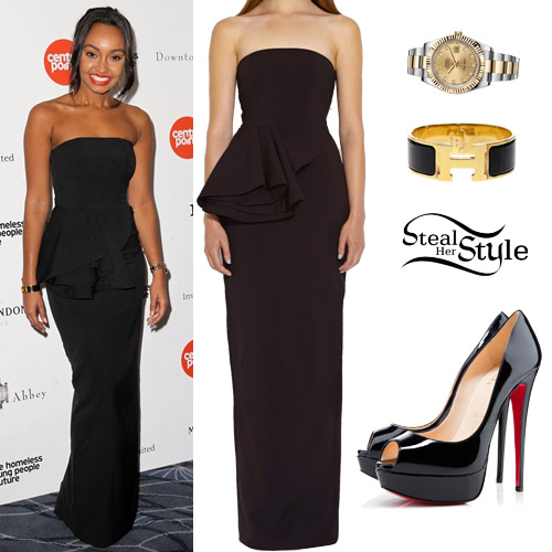 Leigh-Anne Pinnock at the Downton Abbey Ball. April 30th, 2015 - photo: little-mix.org