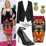 Meghan Trainor: Bird & Flowers Skirt
