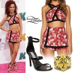 Natalie La Rose: Palm Tree Top & Skort