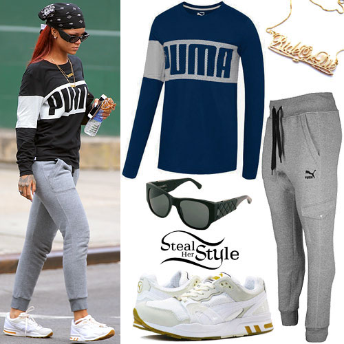 Rihanna: Puma Top, Cargo Pants