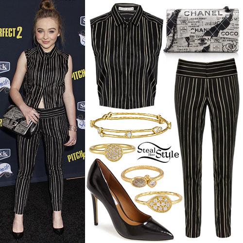 Sabrina Carpenter: Striped Top & Pants