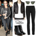 Selena Gomez: Leather Jacket, Black Jeans