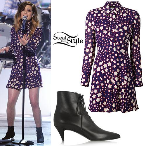 Sydney Sierota: Star Dress, Booties