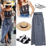 Vanessa Hudgens: Embroidered Top, Maxi Skirt