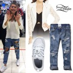Zendaya: White Lace Biker Jacket