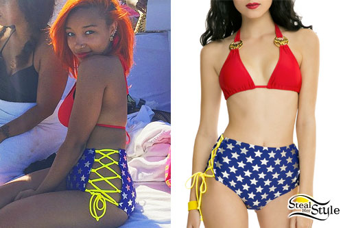 Zonnique Pullins: Wonder Woman Bikini