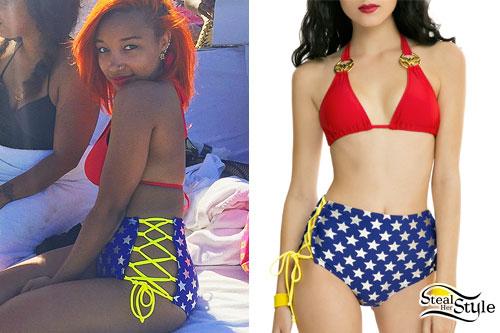 Zonnique Pullins: Wonder Woman Bikini
