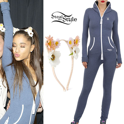 Ariana Grande: Blue Hooded Onesie