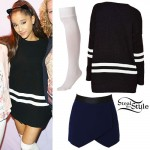 Ariana Grande: Varsity Striped Sweater