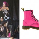 Ariel Bloomer: Pink Dr Martens Boots