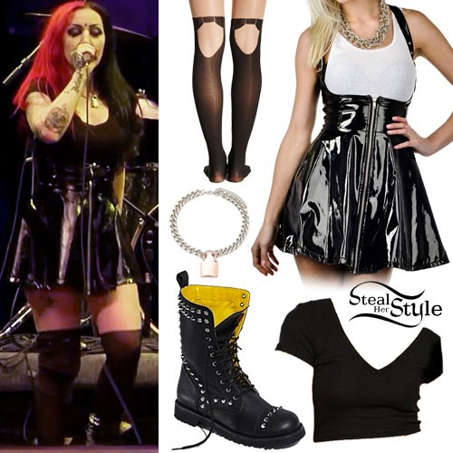 Ash Costello: Vinyl Suspender Skirt