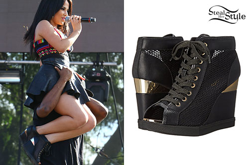 Becky G: Mesh Wedge Sneakers