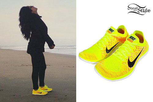 Becky G: Neon Yellow Sneakers