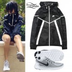 Becky G: Black Windbreaker Jacket