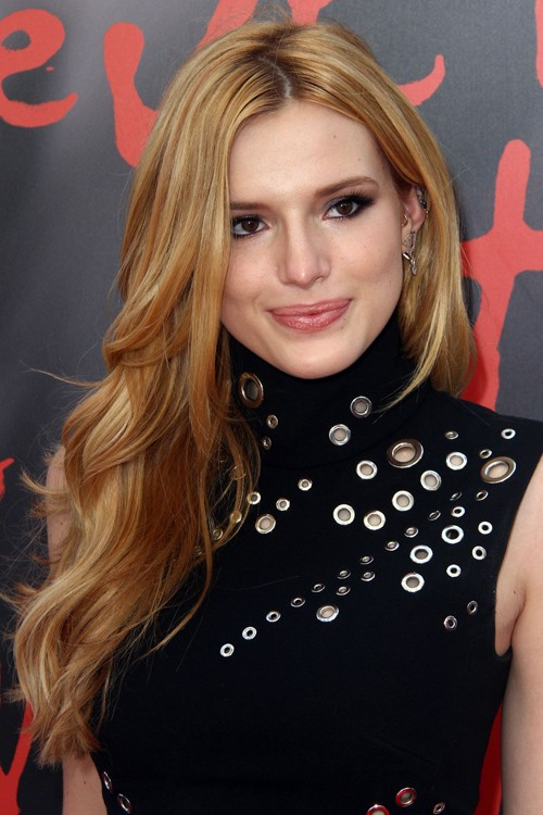Bella Thorne Wavy Medium Brown All Over Highlights
