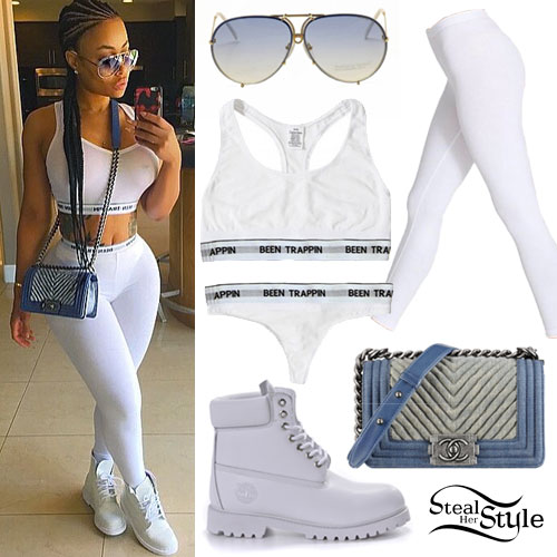 Blac Chyna: 'Been Trappin' Bra Outfit