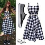 Cassadee Pope: Gingham Top & Skirt