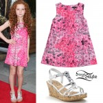 Francesca Capaldi: Pink Floral Dress