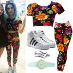 Halsey: Floral Crop Top & Leggings