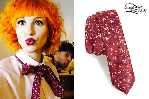 Hayley Williams: Floral Neck Tie