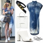 Iggy Azalea: Bleached Denim Dress