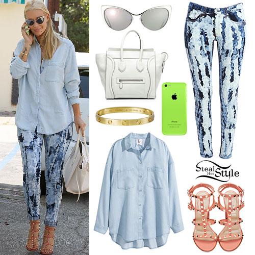 Iggy Azalea: Tie Dye Skinny Jeans