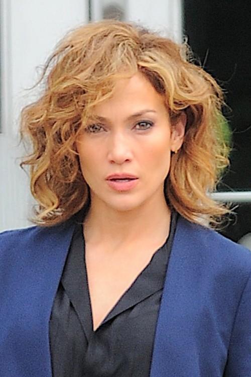 Jennifer Lopez Wavy Medium Brown Messy Hairstyle Steal