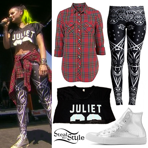 Juliet Simms: Crop Jersey, Baphomet Leggings