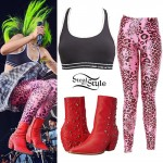 Juliet Simms: Pink Leopard Leggings
