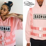 Kehlani: Pink Harness Hoodie
