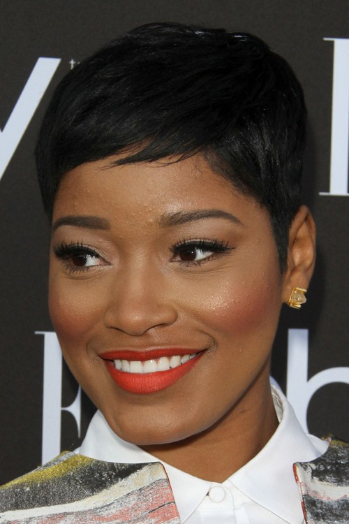 Keke Palmer Straight Black Pixie Cut Hairstyle Steal Her Style