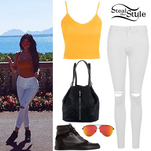 Zendaya Jeans Kylie Jenner: Yellow T...