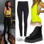LIGHTS: Neon Halter Bodysuit