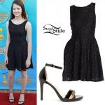 MacKenzie Foy: Glitter Lace Dress