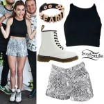 Mandy Lee: Snake Shorts Outfit