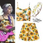 Mariel Loveland: Sunflower Print Outfit