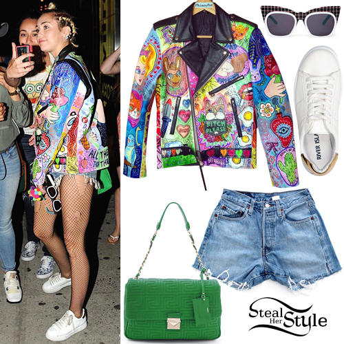 Miley Cyrus leaving Soho House restaurant in Meatpacking, New York. June 17th, 2015 - photo: RGK, PacificCoastNews