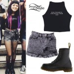 Rena Lovelis: Crop Top, Acid Shorts