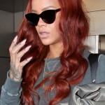 Rihanna seen arriving at the Miami International Airport