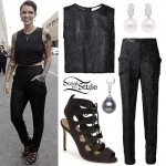 Ruby Rose: Black Sequin Outfit