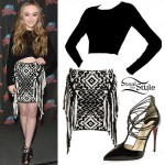 Sabrina Carpenter: Printed Fringe Skirt